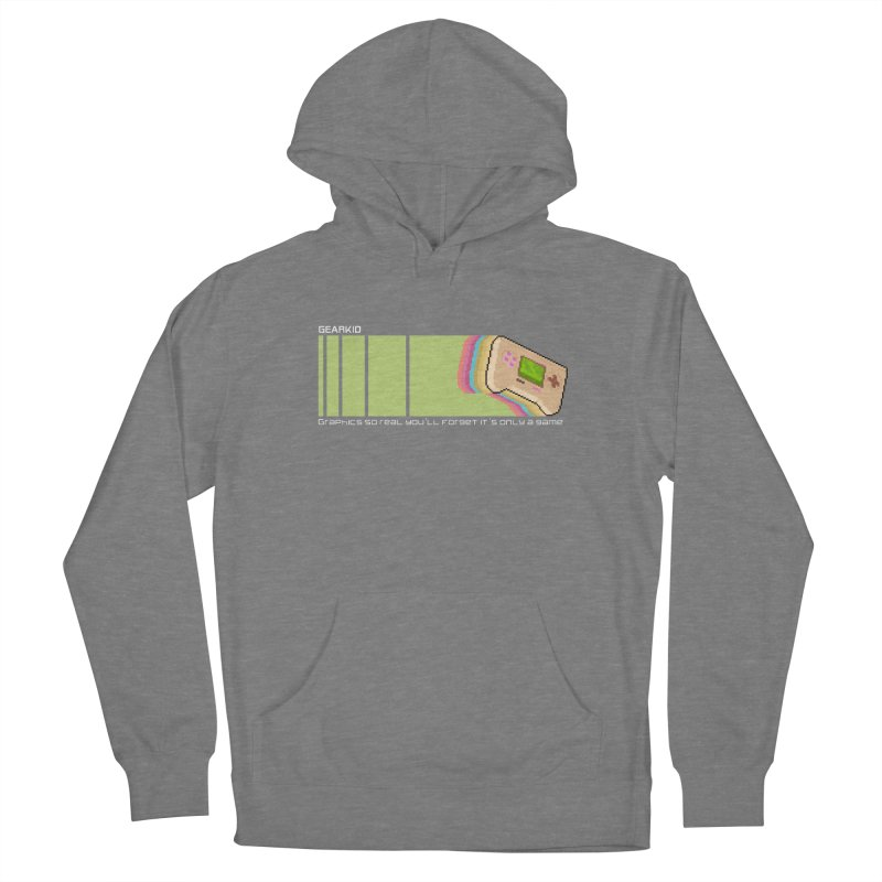 Gamekid Stripes Women's Pullover Hoody by Pixel Ripped VR Retro Game Merchandise