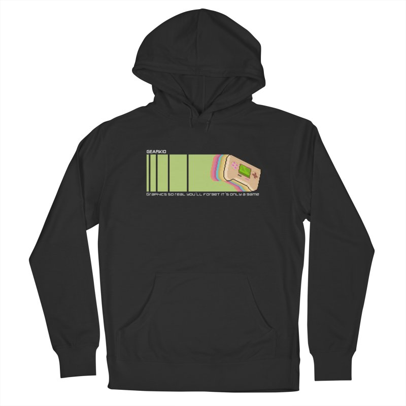 Gamekid Stripes Men's Pullover Hoody by Pixel Ripped VR Retro Game Merchandise