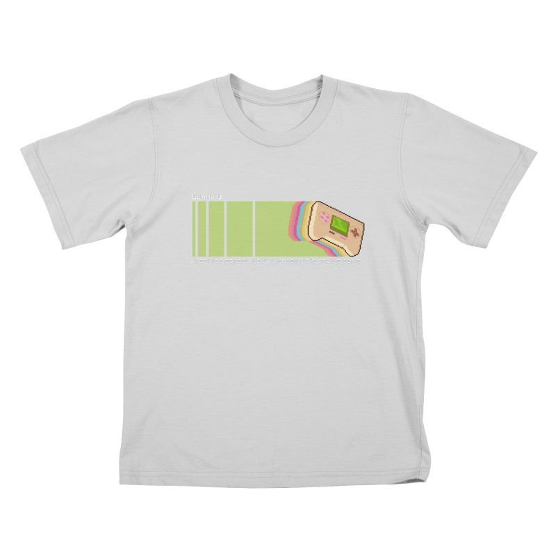 Gamekid Stripes Kids T-Shirt by Pixel Ripped VR Retro Game Merchandise
