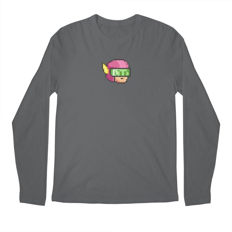 Dot Head Men's Longsleeve T-Shirt by Pixel Ripped VR Retro Game Merchandise
