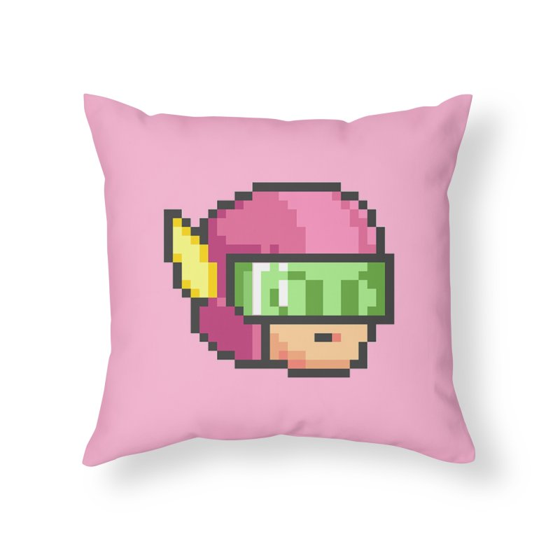 Dot Head Home Throw Pillow by Pixel Ripped VR Retro Game Merchandise