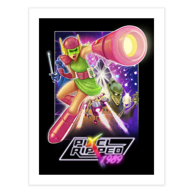 Pixel Ripped - Poster Home Fine Art Print by Pixel Ripped VR Retro Game Merchandise