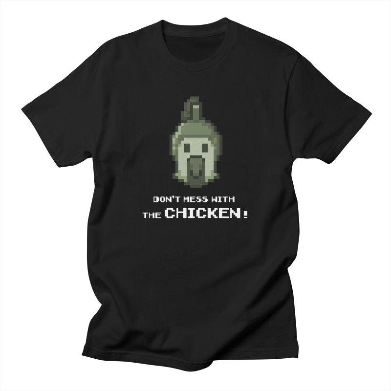Don't mess with the chicken Men's T-Shirt by Pixel Ripped VR Retro Game Merchandise