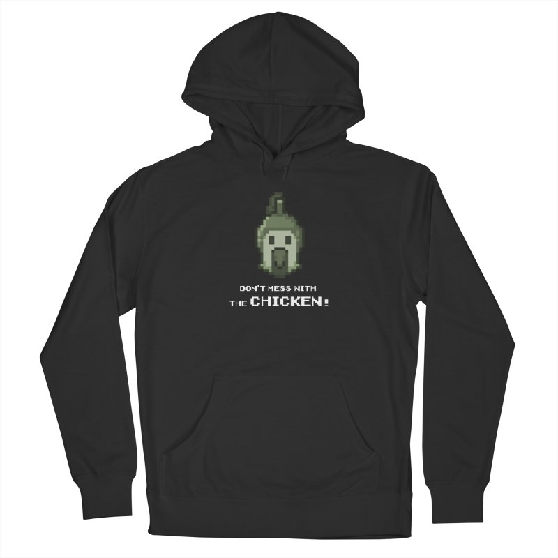 Don't mess with the chicken Men's Pullover Hoody by Pixel Ripped VR Retro Game Merchandise