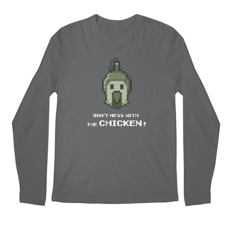 Don't mess with the chicken Men's Longsleeve T-Shirt by Pixel Ripped VR Retro Game Merchandise