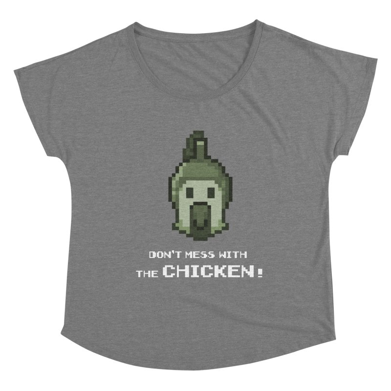 Don't mess with the chicken Women's Scoop Neck by Pixel Ripped VR Retro Game Merchandise