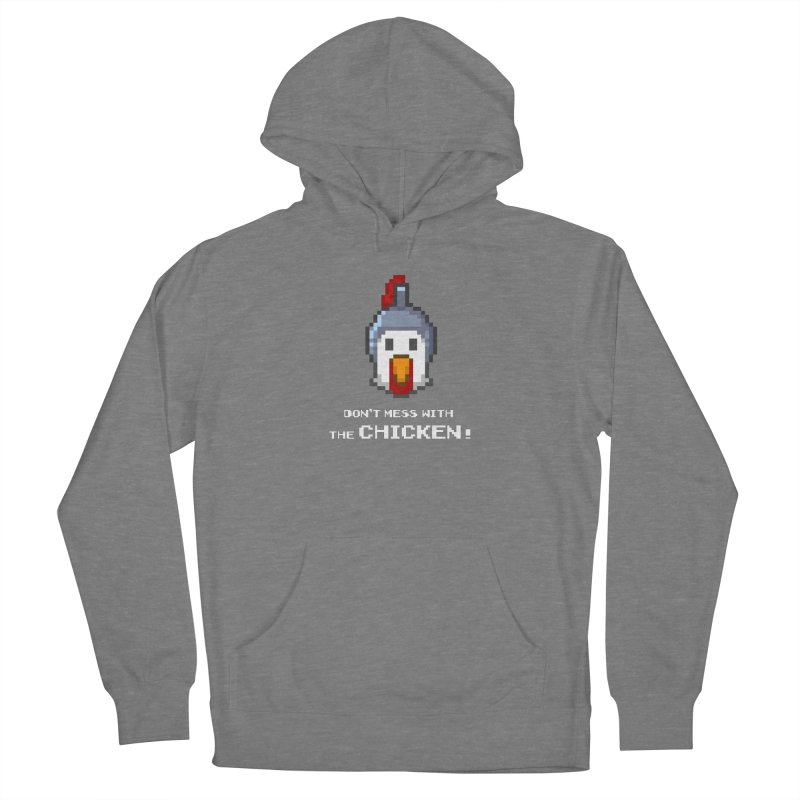 Don't mess with the chicken - color Women's Pullover Hoody by Pixel Ripped VR Retro Game Merchandise
