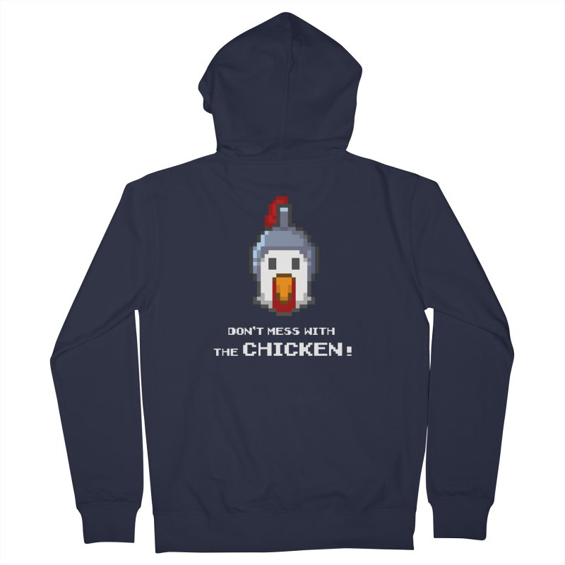 Don't mess with the chicken - color Women's Zip-Up Hoody by Pixel Ripped VR Retro Game Merchandise