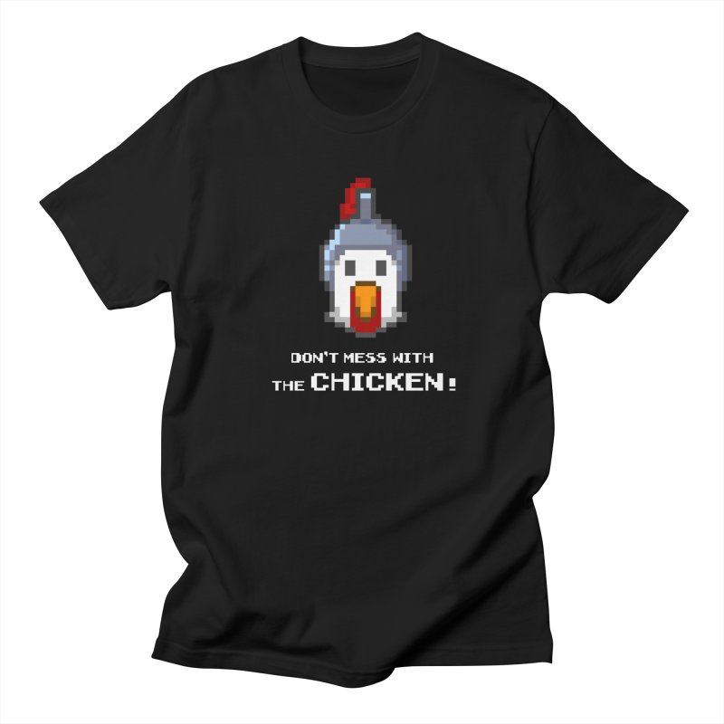 Don't mess with the chicken - color Men's T-Shirt by Pixel Ripped VR Retro Game Merchandise