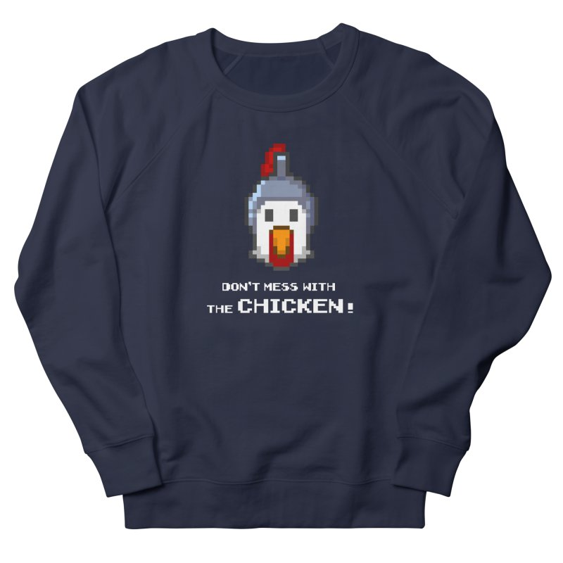 Don't mess with the chicken - color Men's Sweatshirt by Pixel Ripped VR Retro Game Merchandise