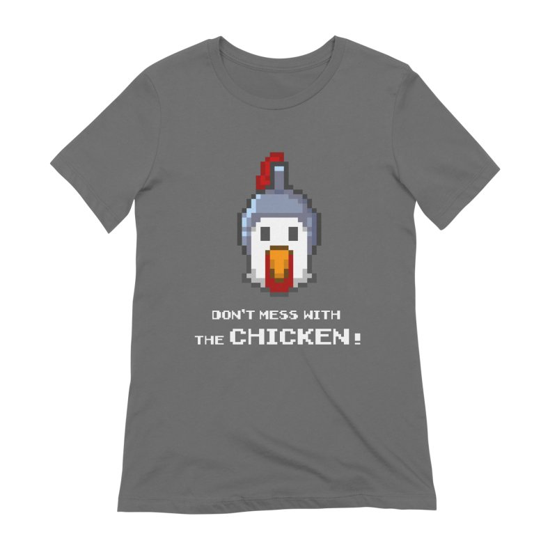Don't mess with the chicken - color Women's T-Shirt by Pixel Ripped VR Retro Game Merchandise