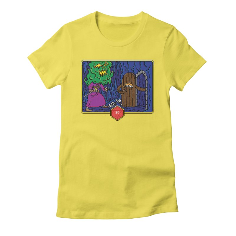 Critical Situations - Intimidate the Door Women's Fitted T-Shirt by Pixels Missing