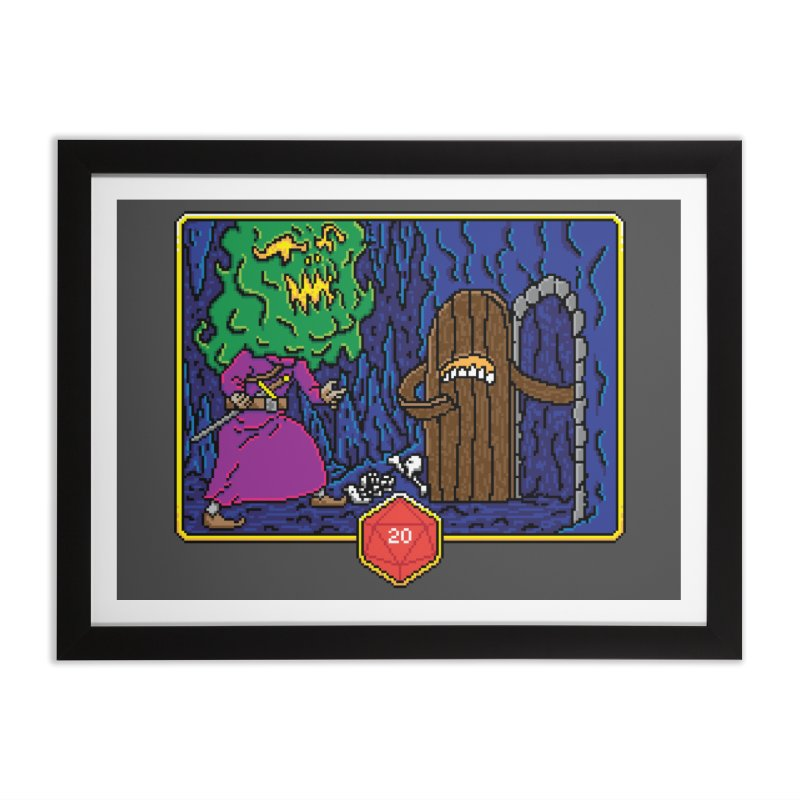 Critical Situations - Intimidate the Door Home Framed Fine Art Print by Pixels Missing