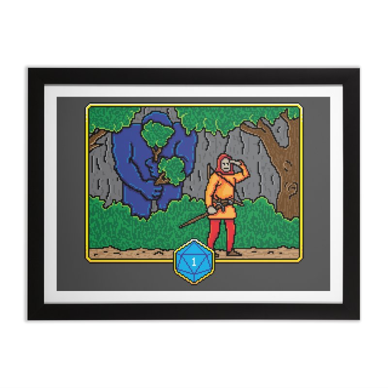 Critical Situations - Search the Area Home Framed Fine Art Print by Pixels Missing