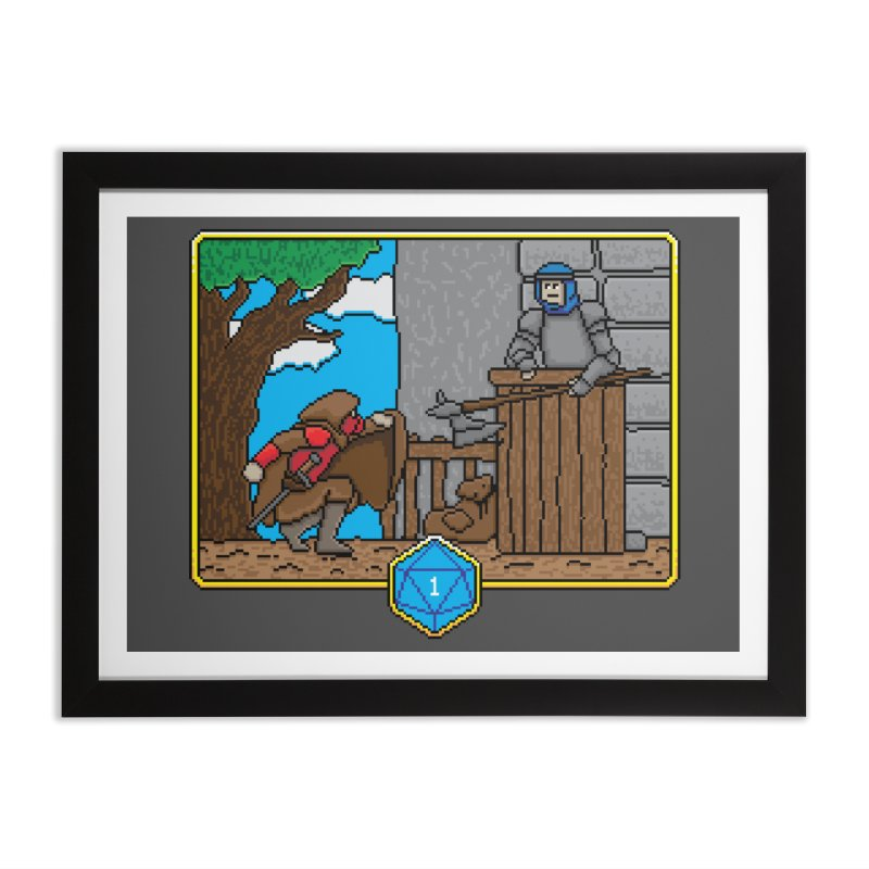 Critical Situations - Sneak On In Home Framed Fine Art Print by Pixels Missing