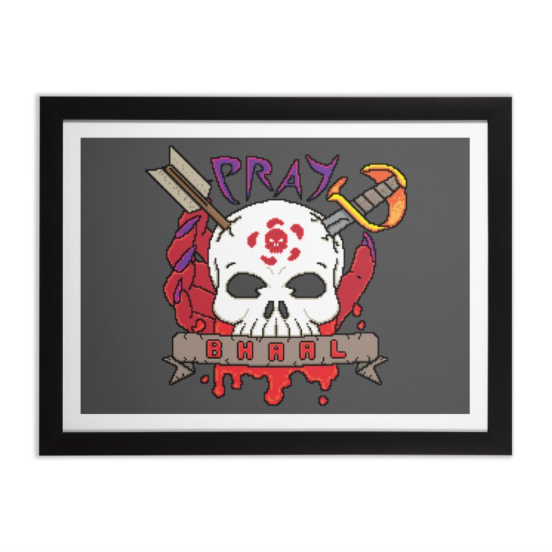 Pray Bhaal Home Framed Fine Art Print by Pixels Missing