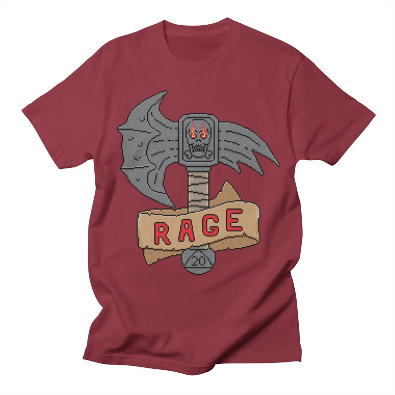 Rage Axe Men's T-Shirt by Pixels Missing