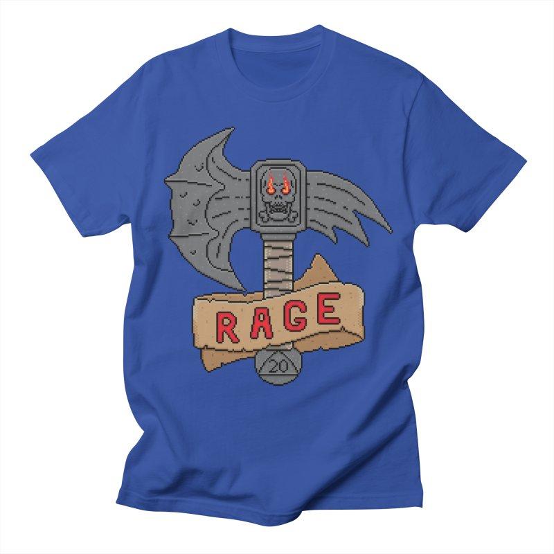 Rage Axe Men's T-shirt by Pixels Missing