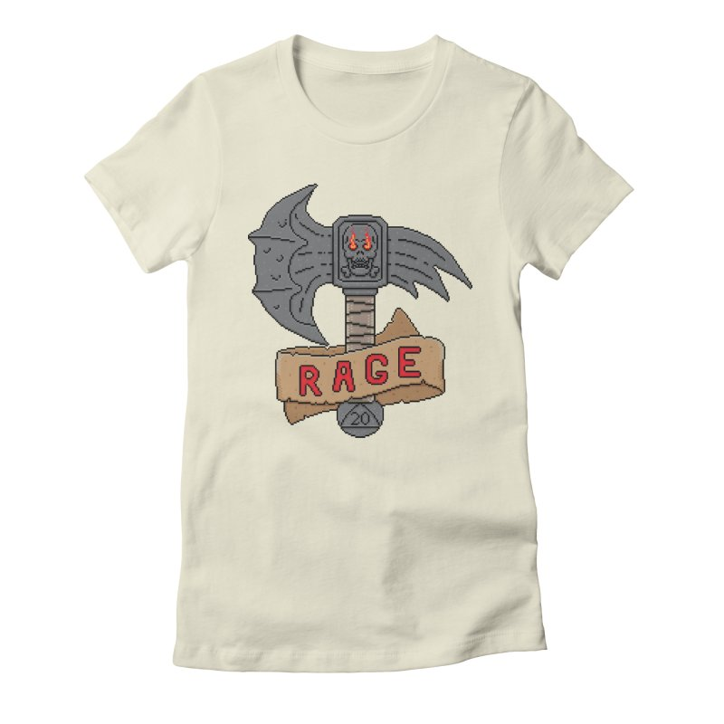 Rage Axe Women's Fitted T-Shirt by Pixels Missing