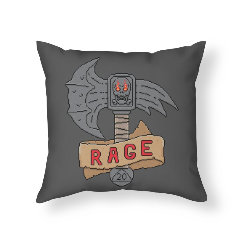 Rage Axe Home Throw Pillow by Pixels Missing