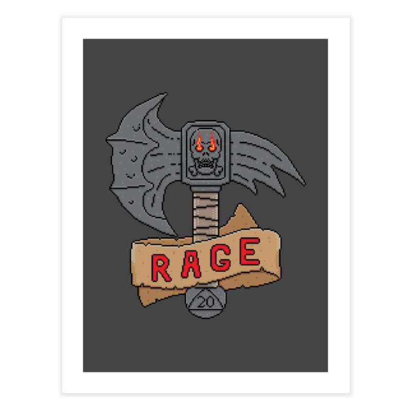 Rage Axe Home Fine Art Print by Pixels Missing