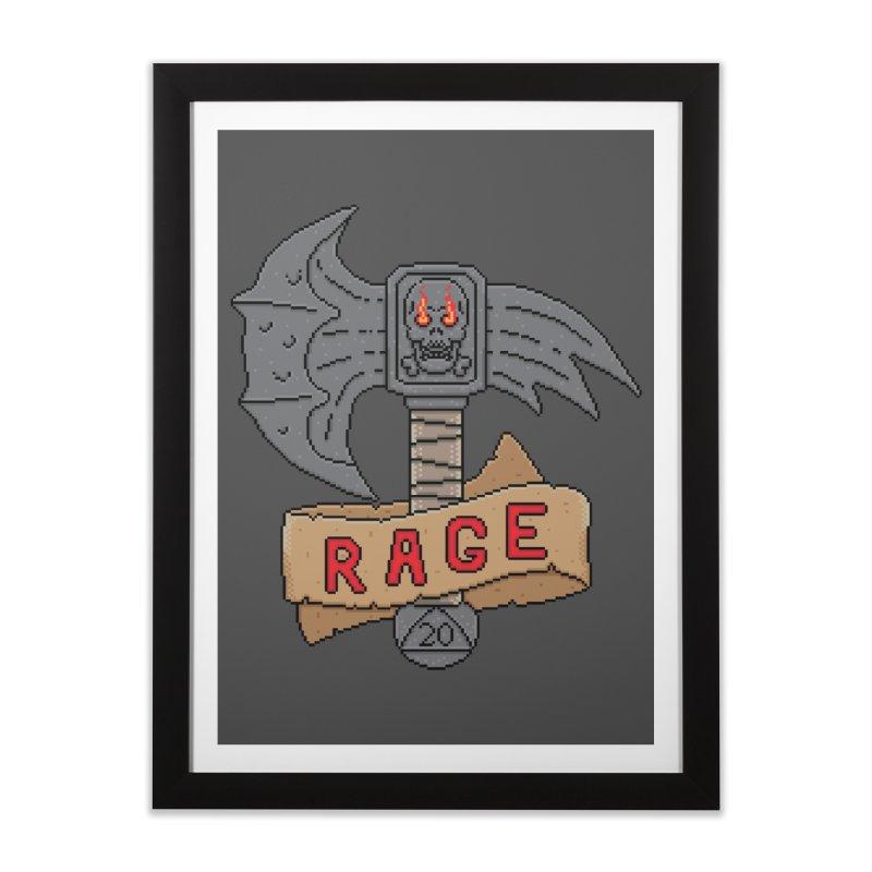 Rage Axe Home Framed Fine Art Print by Pixels Missing