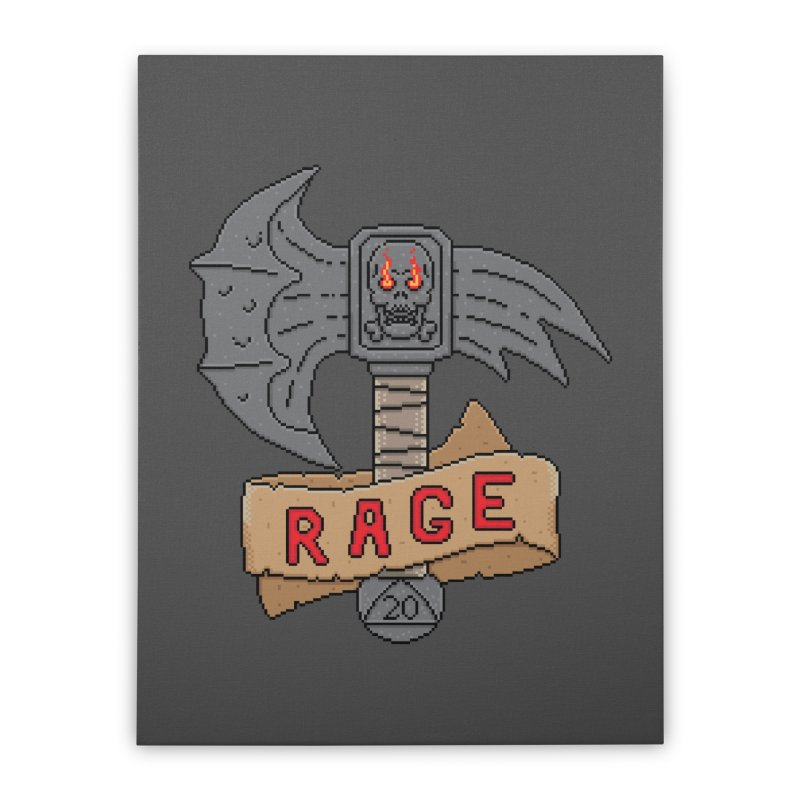 Rage Axe Home Stretched Canvas by Pixels Missing