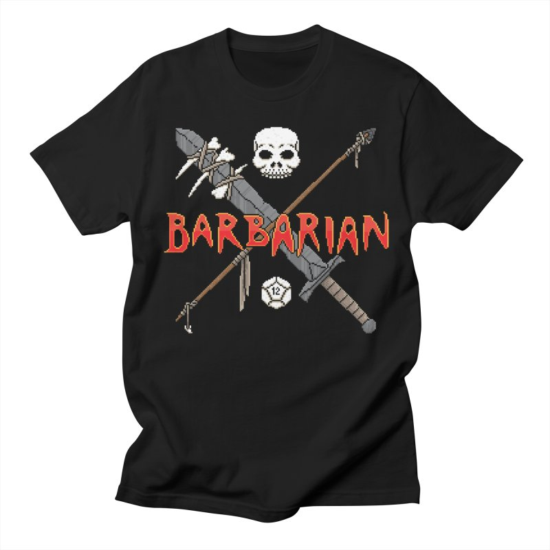 Barbarian in Men's T-shirt Black by Pixels Missing