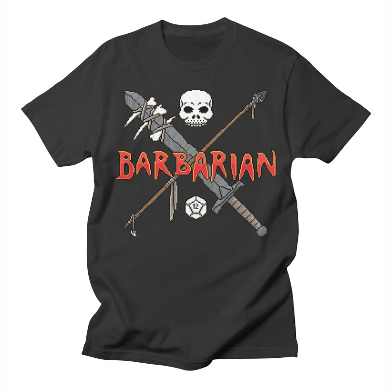 Barbarian in Men's T-shirt Smoke by Pixels Missing