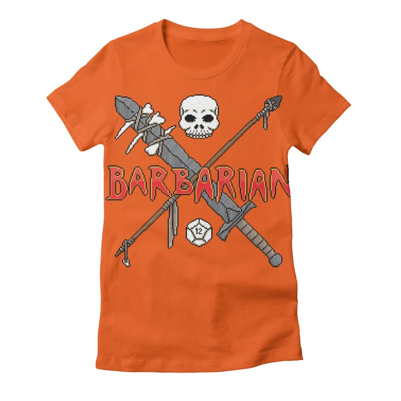 Barbarian Women's Fitted T-Shirt by Pixels Missing