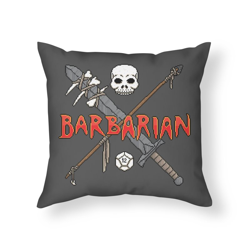 Barbarian Home Throw Pillow by Pixels Missing