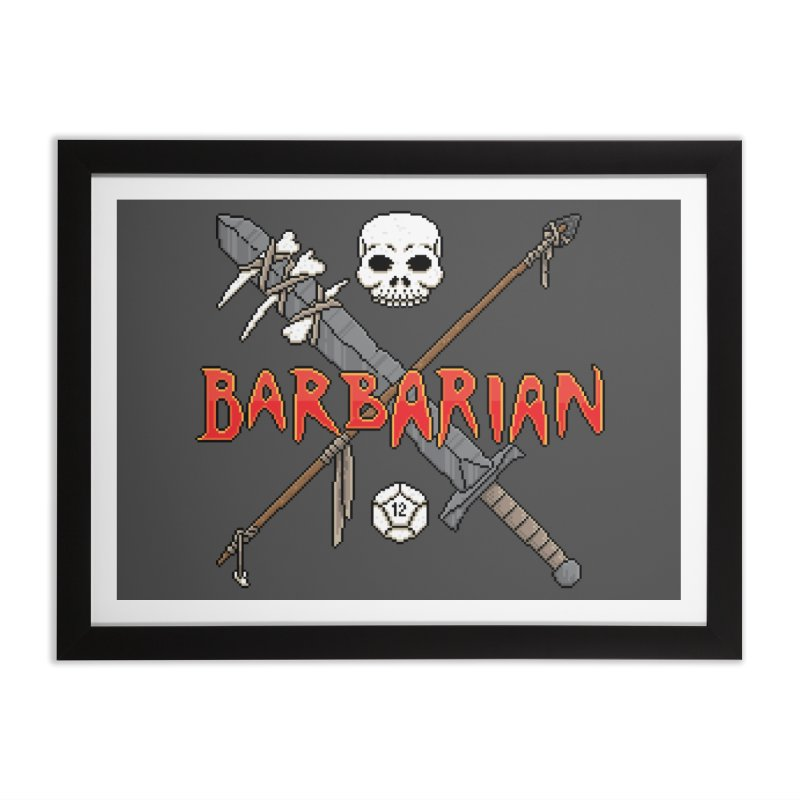 Barbarian Home Framed Fine Art Print by Pixels Missing