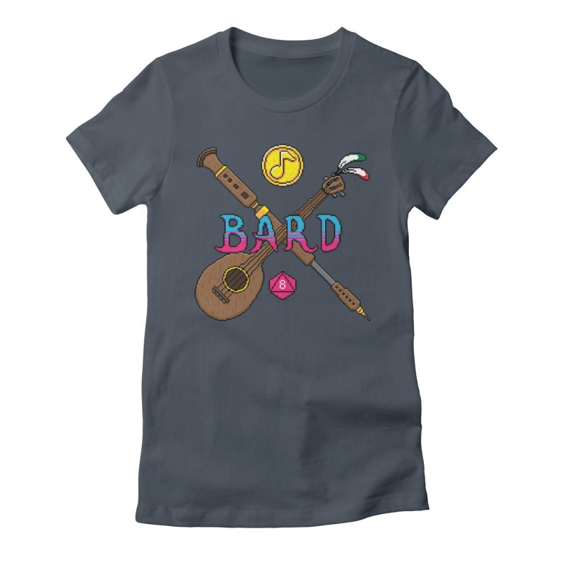 Bard Women's Fitted T-Shirt by Pixels Missing