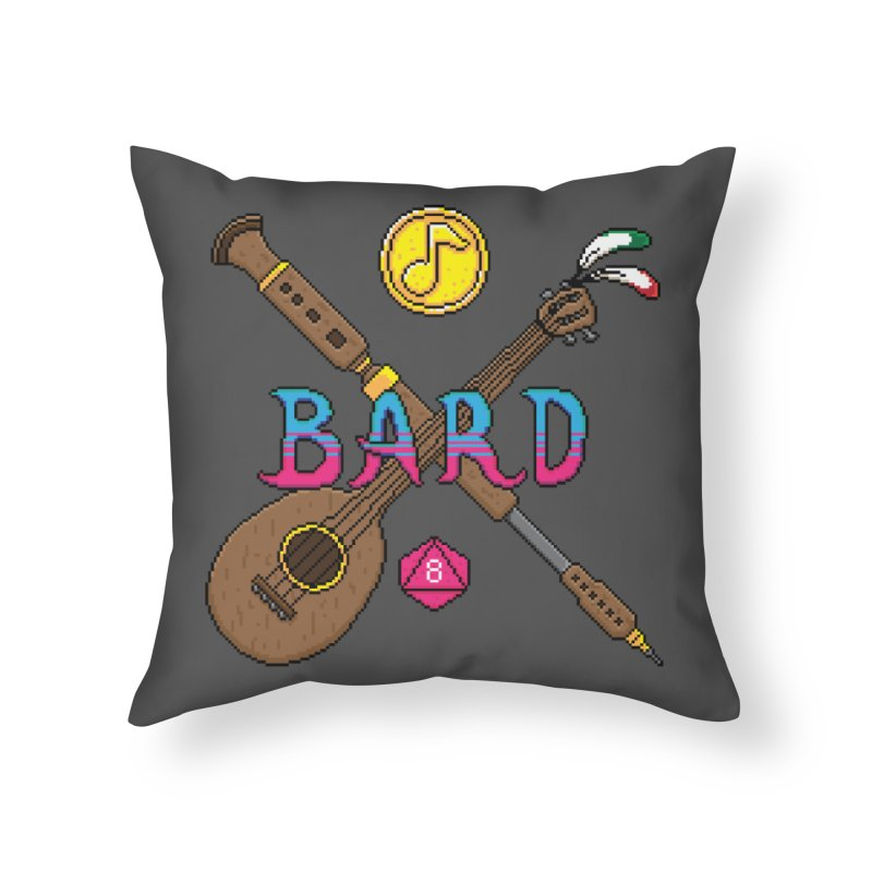 Bard Home Throw Pillow by Pixels Missing