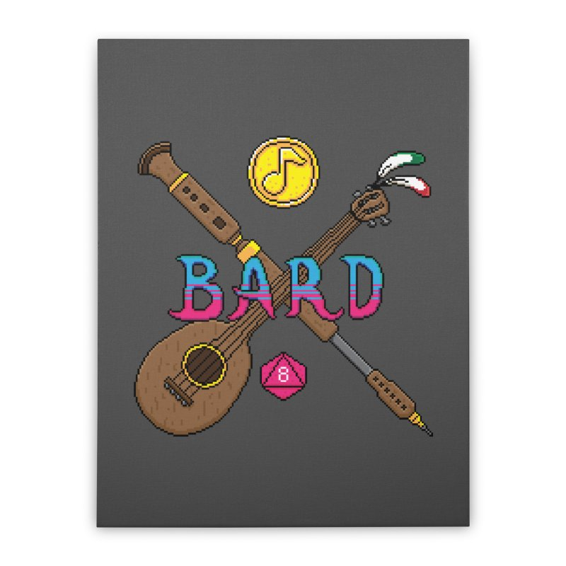 Bard Home Stretched Canvas by Pixels Missing
