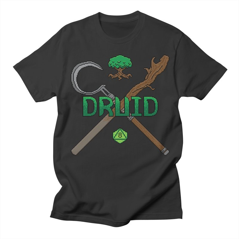 Druid in Men's T-shirt Smoke by Pixels Missing