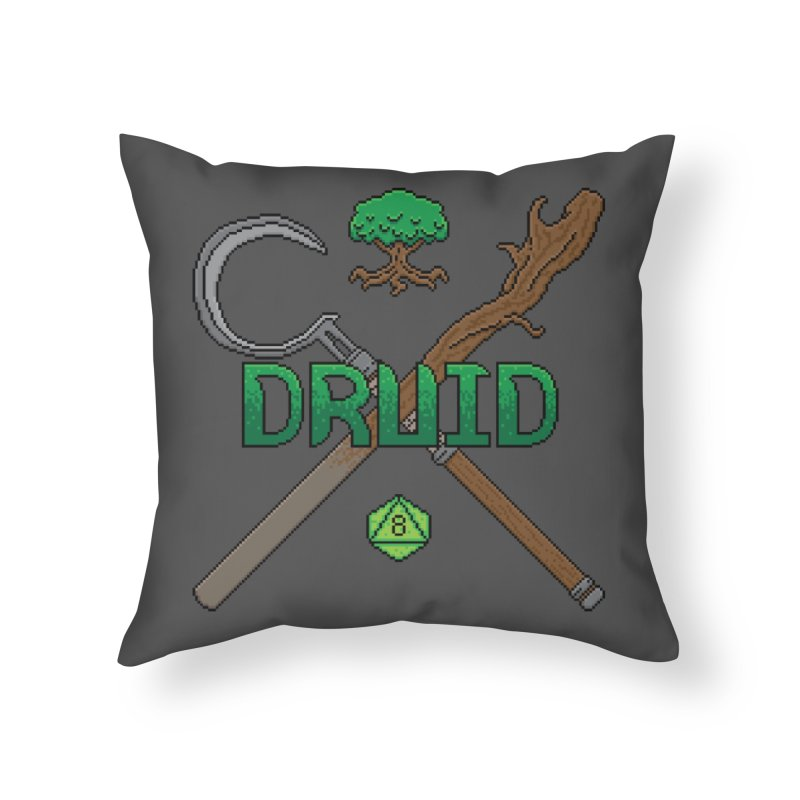 Druid Home Throw Pillow by Pixels Missing