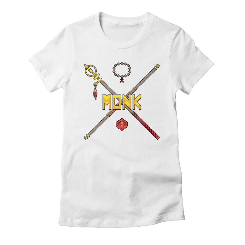 Monk Women's Fitted T-Shirt by Pixels Missing