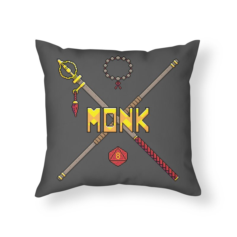 Monk Home Throw Pillow by Pixels Missing