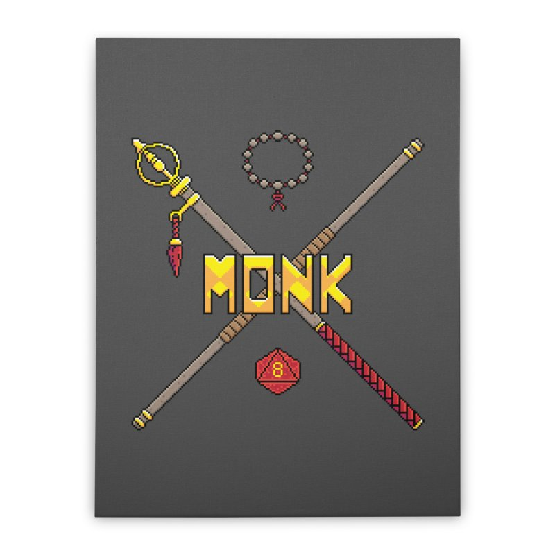 Monk Home Stretched Canvas by Pixels Missing