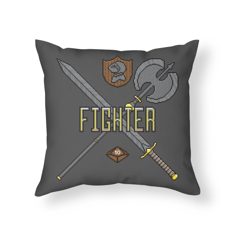 Fighter Home Throw Pillow by Pixels Missing