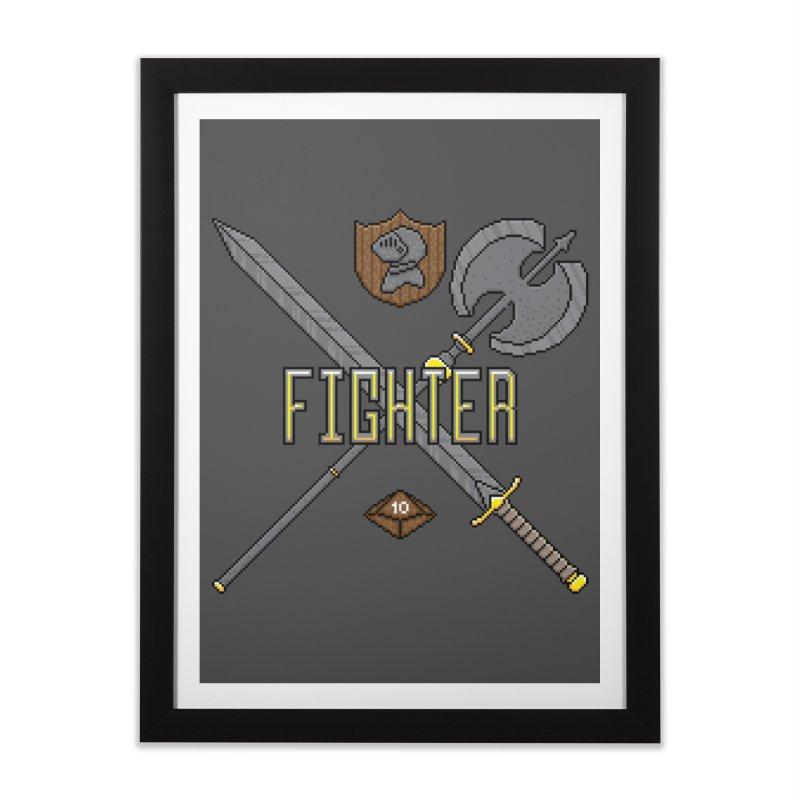 Fighter Home Framed Fine Art Print by Pixels Missing