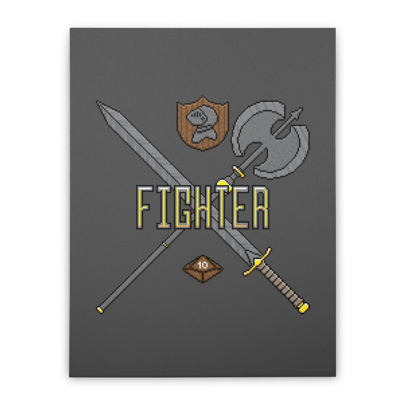 Fighter Home Stretched Canvas by Pixels Missing