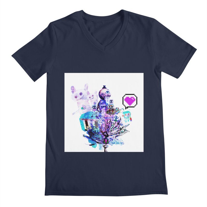 YM - Love pixEOS Men's V-Neck by My pixEOS Artist Shop