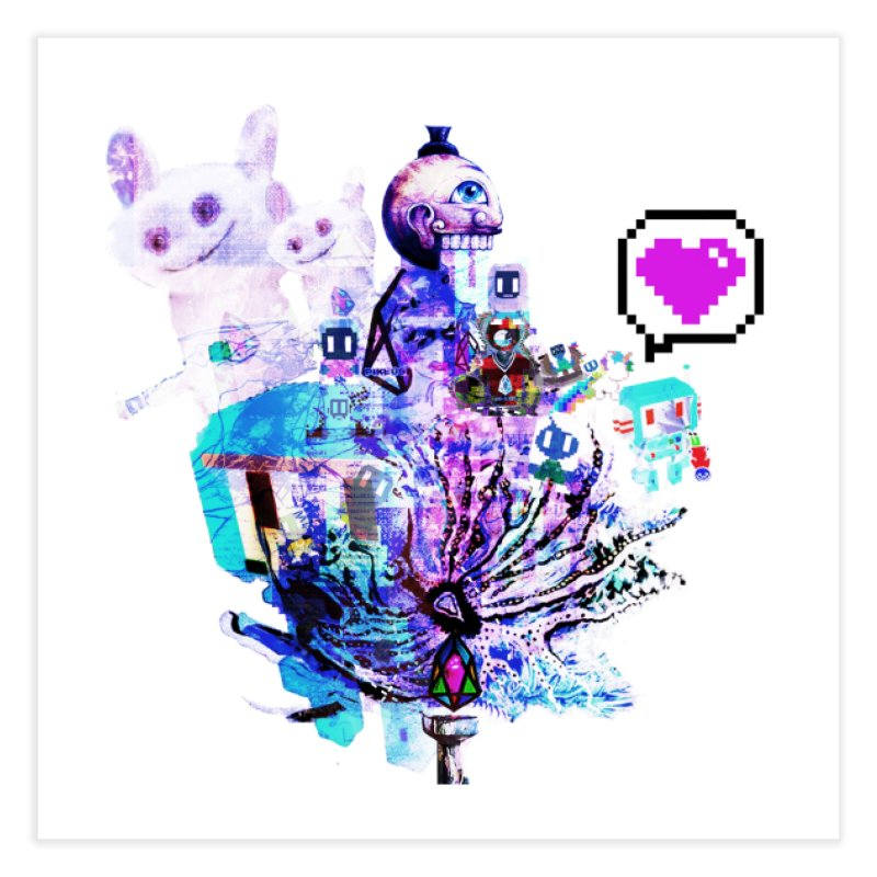 YM - Love pixEOS Home Fine Art Print by My pixEOS Artist Shop