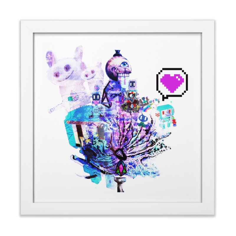 YM - Love pixEOS Home Framed Fine Art Print by My pixEOS Artist Shop