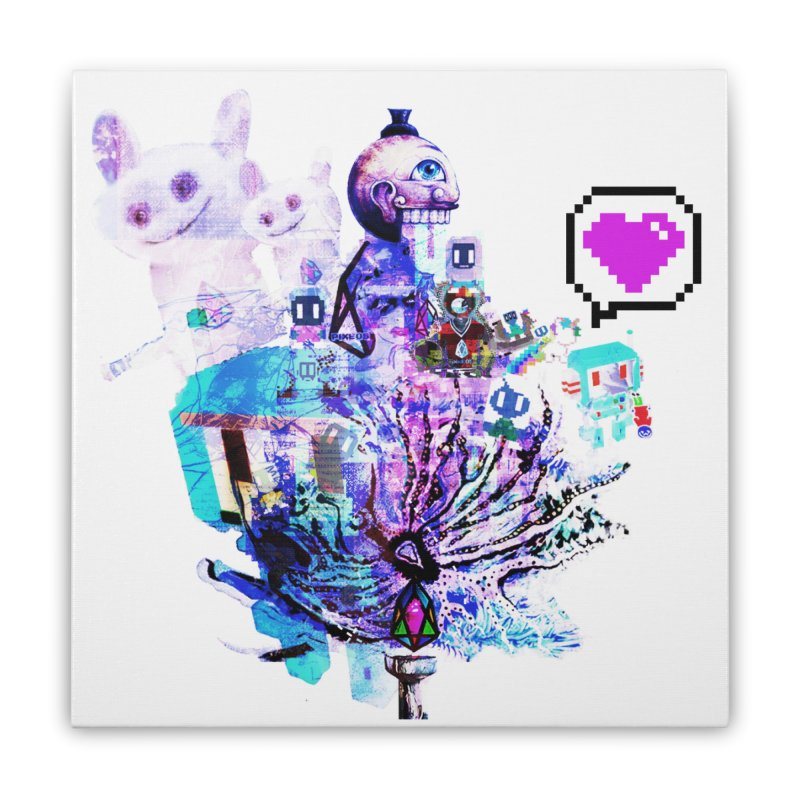 YM - Love pixEOS Home Stretched Canvas by My pixEOS Artist Shop