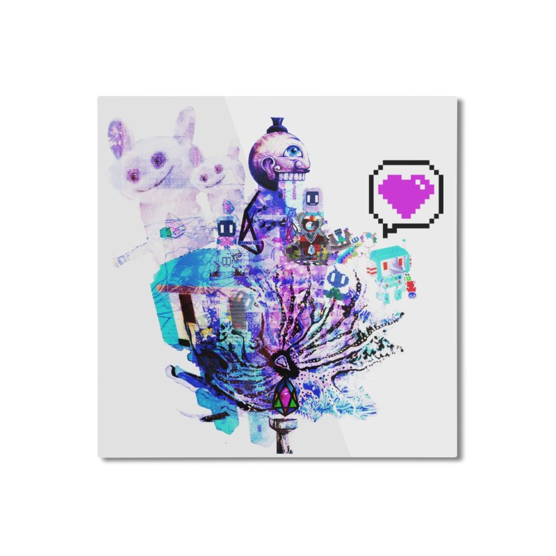 YM - Love pixEOS Home Mounted Aluminum Print by My pixEOS Artist Shop