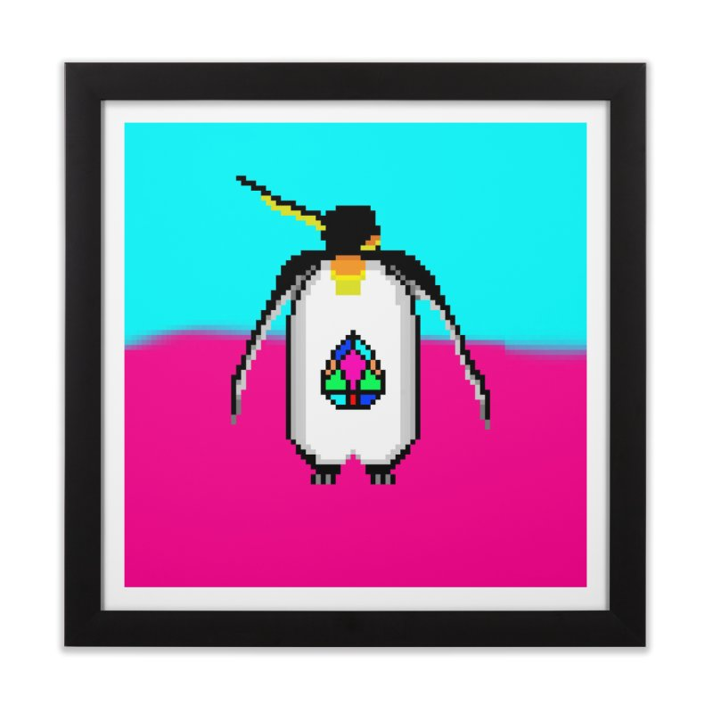 JN - penguEOS Home Framed Fine Art Print by My pixEOS Artist Shop