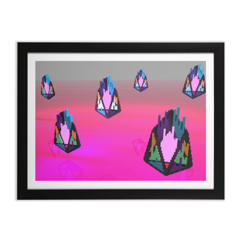 FY - pixEOS Voxel Home Framed Fine Art Print by My pixEOS Artist Shop